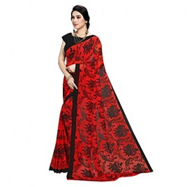 Kashvi Sarees Georgette Floral Printed Daily Wear Saree with Un-stitched Blouse for Women