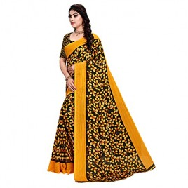 Kashvi Sarees Georgette Floral Printed Saree with Un-stitched blouse for Women