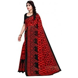 Kashvi Sarees Georgette Paisley Printed Saree with Un-stitched Blouse for Women