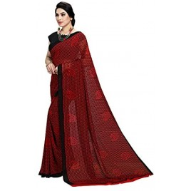 Kashvi Sarees Georgette Printed Casual Wear Saree with Un-stitched blouse for Women