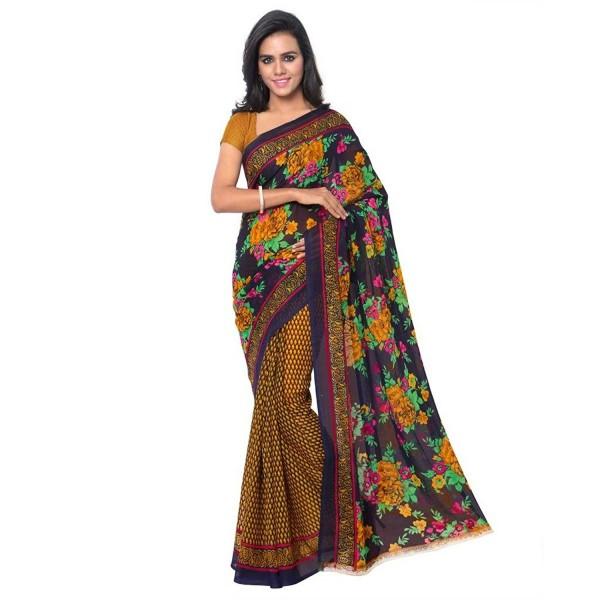 Kashvi Sarees Women's Faux Georgette Saree (1107_2_Multi colour)