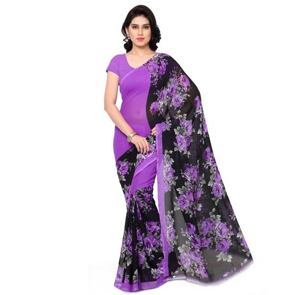 Kashvi Sarees Women's Faux Georgette Saree With Blouse Piece (1152_4_Multicolor)