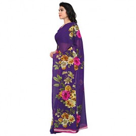 Kashvi Sarees Faux Georgette Purple & Multi Color Printed Saree With Blouse Piece ( 1052_4 )