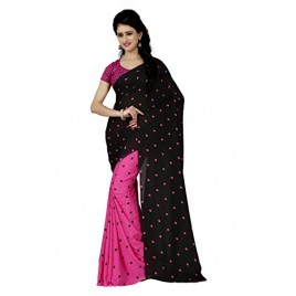 Kashvi sarees Women's Faux Georgette Saree (Mnp_1262_1 ,Multicolor Free Size)