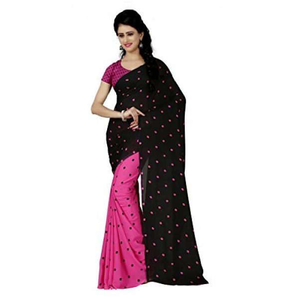 Kashvi sarees Women's Faux Georgette Saree (1262_1 )