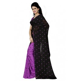 Kashvi sarees Women's Faux Georgette Saree With Blouse Piece (1262_4 )