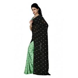 Kashvi sarees Women's Faux Georgette Saree With Blouse Piece (1262_2)