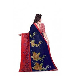Kashvi sarees Georgette Saree with Blouse Piece