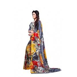 Kashvi sarees faux georgette saree with blouse piece
