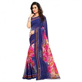 Kashvi Sarees Faux Georgette Printed Blue Color With blouse Piece (1412)