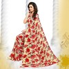 Kashvi Sarees Faux Georgette Printed Red Color With blouse Piece ( 1437_1)