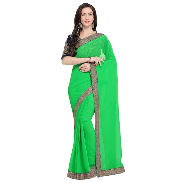 Kashvi sarees faux georgette sareewith border and running blouse