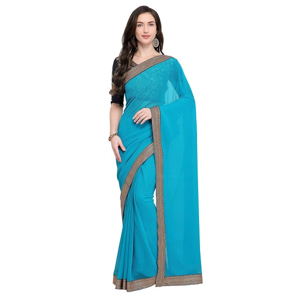 Kashvi sarees border sari with blouse