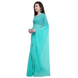 Kashvi Sarees Georgette Solid Plain Saree With Unstitched Blouse Piece 1466