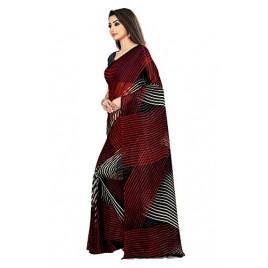 Kashvi Sarees Black Color Faux Georgette Saree With Unstitched Black Color Blouse Piece (1472)
