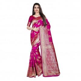 Kashvi Sarees Kanjivaram & Banarasi Jacquard Silk Saree With Unstitched Blouse Piece 1485