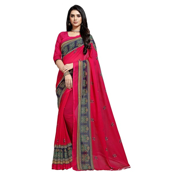 KASHVI SAREES Georgette with Blouse Piece Saree