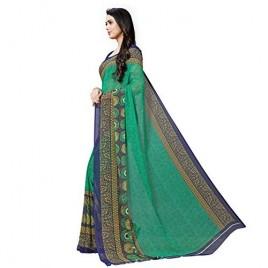 KASHVI SAREES Georgette with Blouse Piece Saree (1496_Green_One Size)