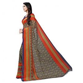 Kashvi sarees georgette with blouse piece Saree (1499_ Multicoloured_ One Size)