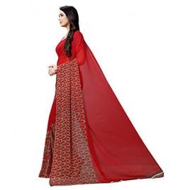 Kashvi sarees Georgette with Blouse Piece Saree (1500_Multicoloured_One Size)