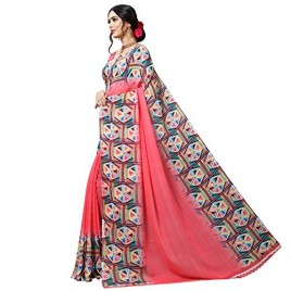 Kashvi sarees Georgette with Blouse Piece Saree (1515_Multicoloured_One Size)