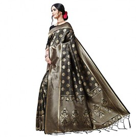 Kashvi Sarees Kanjivaram & Banarasi Jacquard Silk Saree With Unstitched Blouse Piece