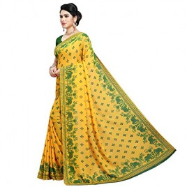 Kashvi sarees georgette with blouse piece Saree (1545_2_ Multicoloured_ One Size)