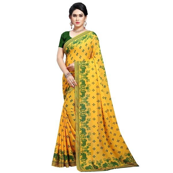 Kashvi sarees georgette with blouse piece Saree (1545_2_ Multicoloured_ One Size)
