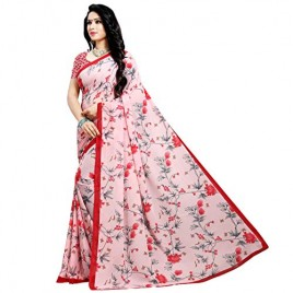 Kashvi sarees Georgette with Blouse Piece Saree (1552_Multicoloured_One Size)
