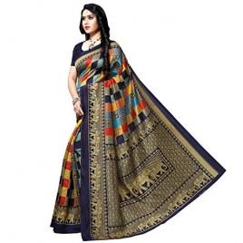 Kashvi sarees georgette with blouse piece Saree (1550_3_ Multicoloured_ One Size)