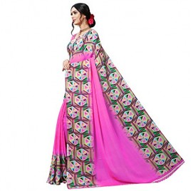 Kashvi sarees georgette with blouse piece Saree (1515_2_ Multicoloured_ One Size)
