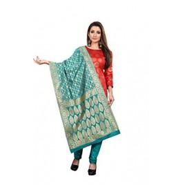 Kashvi sarees Women's synthetic Dress Material (JDM_GREEN_1_1 free size)
