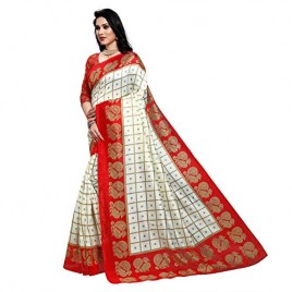 Kashvi Sarees lichi material saree with blouse piece