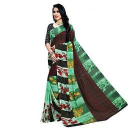 Kashvi Sarees Georgette Floral Print Daily Wear Saree with Blouse Piece