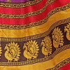 Kashvi Sarees Khadi Silk Printed Women's Saree with Unstitched Blouse Piece