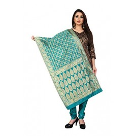 Kashvi Jacquard Silk Woven Salwar Suit Dress Material for Women