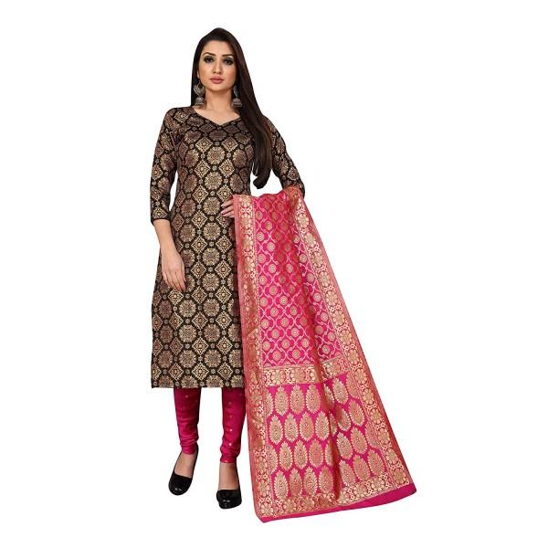 Kashvi Jacquard Silk Woven Salwar Suit Dress Material for Women
