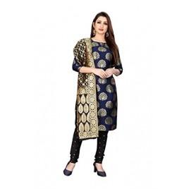 Kashvi Silk Blend Jacquard Woven Design Salwar Suit Dupatta Dress Material for Women(Free Size)