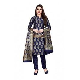 Kashvi Silk Blend Jacquard Woven Salwar Suit Dupatta Dress Material for Women