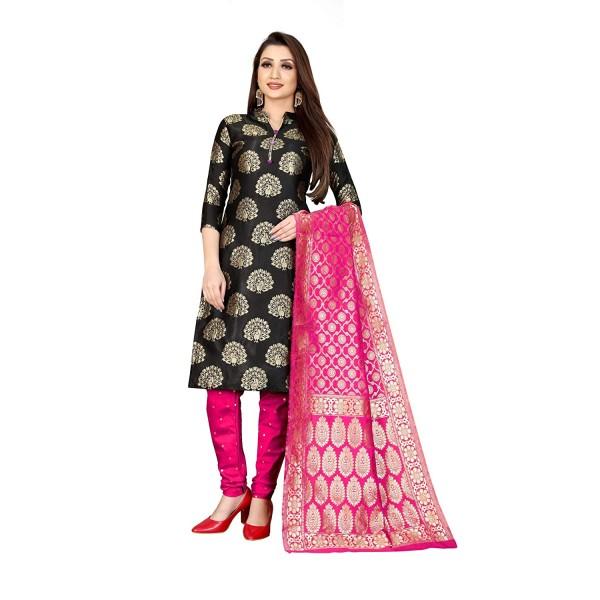 Kashvi Jacquard Silk Woven Salwar Suit Dupatta Dress Material for Women(Free Size)