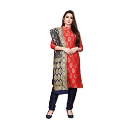 Kashvi Jacquard Silk Blend Woven Salwar Suit Dupatta Dress Material for Women
