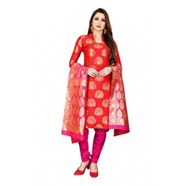 Kashvi Jacquard Silk Woven Salwar Suit Dupatta Dress Material for Women(Free Size)