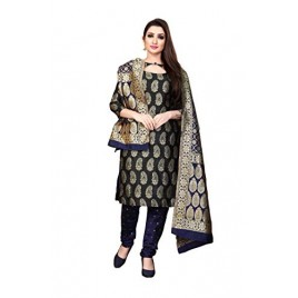 Kashvi Woven Silk Blend Jacquard Salwar Suit Dupatta Dress Material for Women