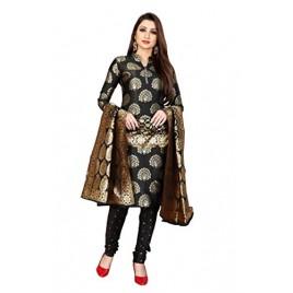 Kashvi Free Size Jacquard Silk Blend Woven Design Salwar Suit Dupatta Material for Women