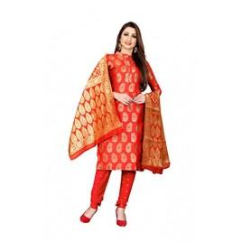 Kashvi Silk Blend Jacquard Woven Design Salwar Suit Dupatta Dress Material for Women
