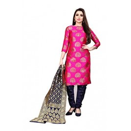 Kashvi Jacquard Silk Woven Design Salwar Suit Dupatta Dress Material for Women(Free Size)