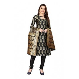 Kashvi Jacquard Silk Blend Woven Salwar Suit Dupatta Material for Women