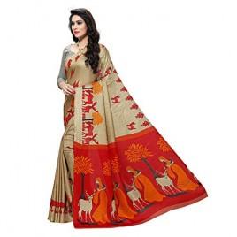 Kashvi Sarees Women's Designer Khadi Silk Printed Saree with Blouse Piece