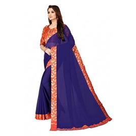 Kashvi Sarees Georgette Saree with Jacqaurd Blouse Piece