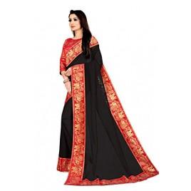 Kashvi Sarees Georgette Saree with Red Jacquard Blouse Piece